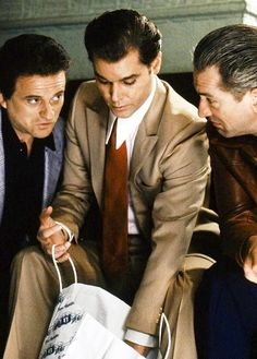"Joe Pesci, Ray Liotta and Robert De Niro in ""Goodfellas,"" 1990 [Martin Scorsese]"