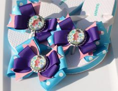 Purple Pink Teal and Polka Dot Monsters Incorporated by bowsforme, $21.99