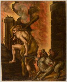 Philipp Uffenbach, Hercules and Cerberus, 16th-17th century, Harvard Art Museums/Busch-Reisinger Museum.