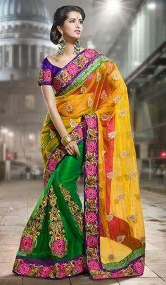#Indian dress..gorgeous #saree #sarees #Indian #art #craft #fashion #dress #silk #material #design #woman #men #Delhi #cloths #handicraft #price #handknitted #wholesale