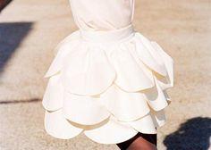 ruffles costum, fashion, inspiration, flower dresses, mini skirts, flower girl dresses, scallop, petal skirt, flower girls