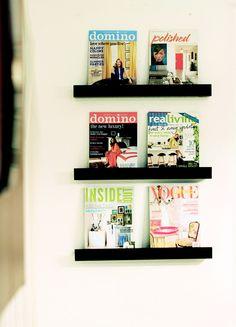 Bathroom Magazine wall (Made by Girl)