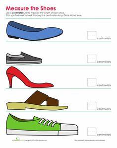 Worksheets: Shoe Measurement
