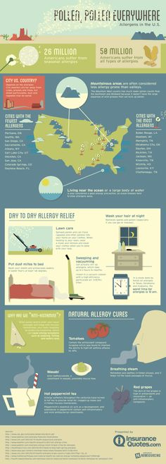 Where are allergies the worst? #allergies #infographic