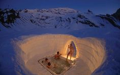 Outdoor Jacuzzi - Igloo Village, Zermatt, Gornergrat, Switzerland