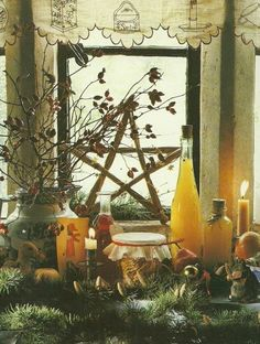 A simply beautiful Yule altar.