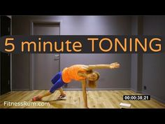 5 Minute Bodyweight Only Aerobic Workout Total Body Toning Level 2 - YouTube