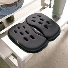 Gel Seat Cushion: Take the portable G Seat with you wherever you go, and put comfort and pressure-relieving support between you and any hard seating surface.  http://www.relaxtheback.com/back-lumbar-supports/seat-cushions/gel-seat-cushion.html