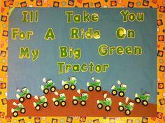 Tractor farm bulletin board. Footprint tractors.