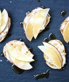 Apple and Blue-Cheese-Butter Crostini
