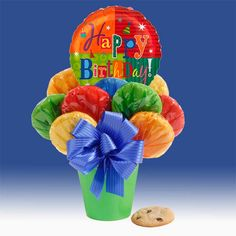 birthday, chocolate chips, cooki bouquet, cookie gifts, white chocolate