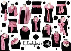 scarf tying ideas Mindas Boutique,     Charlottesville, VA  www.mindasboutique.net  #MindasBoutique #arttowear #naturalfibers  #Charlottesville