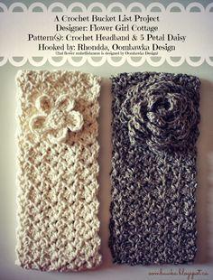 Headband and Flower free crochet pattern