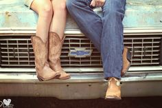 chevy trucks, cowgirl boots, engagement pictures, cowboy boots, engagement photos, country boys, old trucks, country girls, engagement pics
