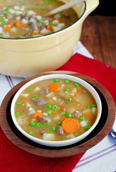 Beef & Barley Stew is perfect for chilly fall and winter nights.