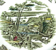 Heritage pattern by Ridgway Pottery - The Rideau Canal Bytown - Bytown is now Ottawa Ontario Canada
