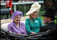 Queen Elizabeth and Autumn Kelly at Royal Ascot's ladies day, 20 June 2013.