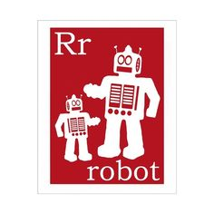 And this poster for the robot/rocket room