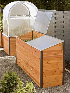 Elevated Cedar Raised Bed with Cold Frame