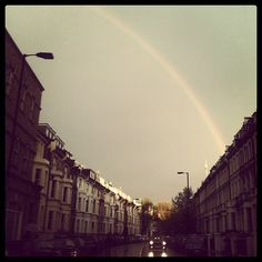 Rainbow over #London tonight 13°C | 55°F #BurberryWeather