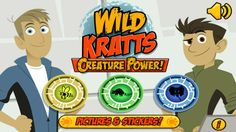 Wild Kratts Creature Power // Dive into the world of animals with the Kratt brothers in three awesome animal adventures! Explore special creature powers in these engaging games, as you pollinate flowers as a bee, bathe elephants, and feed a family of raccoons.  Based on the PBS KIDS series Wild Kratts, Wild Kratts Creature Power includes three fun, immersive games, each focused on a specific science concept, and filled with interesting science facts.