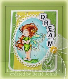 Summer Fairy [SZWS132] - $8.00 : Whimsy Stamps