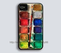 iPhone 4 case iPhone 4s case  Watercolor Set iPhone by deity86, $8.99