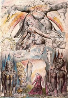 Illustration to Dante's Divine Comedy, Hell by English artist William Blake (1757-1827). This illustration was inspired by Dante's major work Divina Commedia (1308-21).