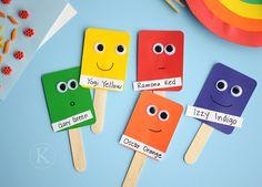 Paint Chip Color Puppets