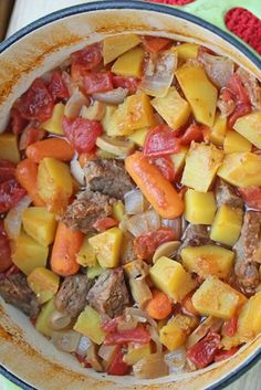Beef & Butternut Squash Stew ~ part of our 31 Days of Freezer Cooking Recipes series | 5DollarDinners.com