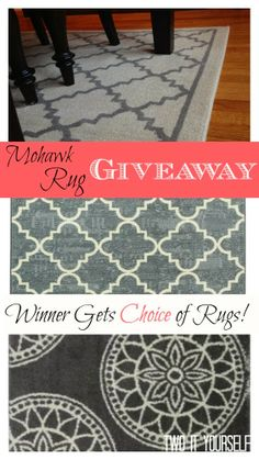 Mohawk Rug Giveaway #Ilovemymohawkrug (Winner picks any Mohawk rug up to $150 in value and 8'x5' in size.) #mohawkrug #arearugs #giveawway #diningroomrug #livingroomrug #affordablerugs www.twoityourself.com