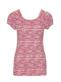 Striped T-Shirt 02/2013 #126  Nice scoop neck and interesting gathers on the shoulders