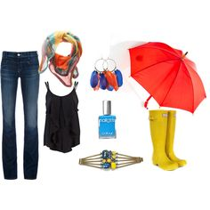 Outfit for a Rainy Day in Spring/Summer, created by meggie-lair on Polyvore