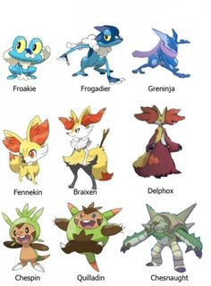 Pokemon X and Y Starter Evolved Forms