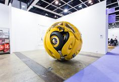 """""""Ichwan Noor (b. 1963): Beetle Sphere, 2013 (Aluminium, polyester, real parts from VW beetle '53, paint)"""" / Art:1 by Mondecor Gallery / Art Basel Hong Kong 2013 / SML.20130523.6D.14135 