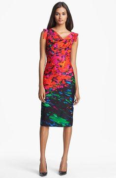 Black Halo 'Jackie O' Print Sheath Dress | Nordstrom