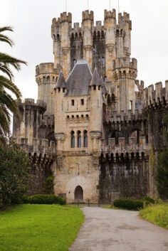 Butron Castle in Gatica, Biscay Spain. Dating back to the 14th century. It fell into disuse and was later renovated and opened to the public. This proved to be unsuccessful and the building was closed to visitors although the grounds remained open.