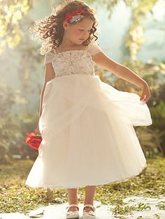 Disney Blossoms by Alfred Angelo for your little Belle Style #700 #AlfredAngelo www.alfredangelo.com