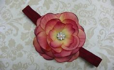 Baby Girl Headbands: Red Flowers with Crystals www.thebump.com