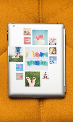 Create cute reusable stickers made with photos from your Instagram, camera-roll or desktop. Perfect to give to grandparents, Mom, Aunt, etc... to remind them of fun times.