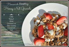Soaked Honey Nut Granola via Homemade Mommy