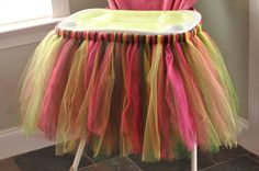 Highchair Tutu - YOU CHOOSE Custom Color(s) - Birthday High Chair Tutu Skirt Decoration. $49.50, via Etsy.