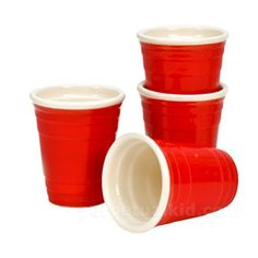 Mini Red Cup Shot Glasses