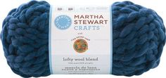 Beautiful bulky weight yarn from Martha Stewart Crafts.  This Lofty Wool Blend Yarn, in Ballpoint Blue, is just what you need for your next project.  It's only $10.19 per skein.