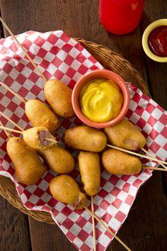 mini corn dogs, corndog, homemad mini, dog recipes, paula deen corn dogs
