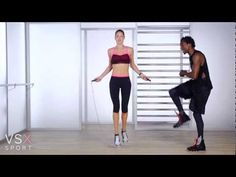 Victoria Secret Core Workout -- interesting idea with the light weights as a jump rope alternative