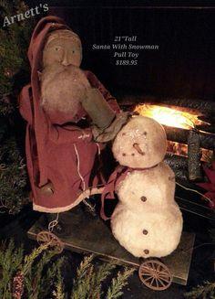 Arnett's Santa Snowman Pulltoy