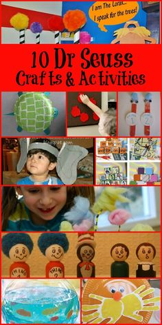 Dr Seuss Birthday Crafts and Activities