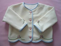 Snug As A Bug Embroidered Wool Jacket by GailDoane on Etsy, $70.00