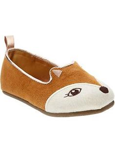Critter-Face Fox Ballet Flats for Toddler Girls at Old Navy (they also have a black cat and a gray bear)